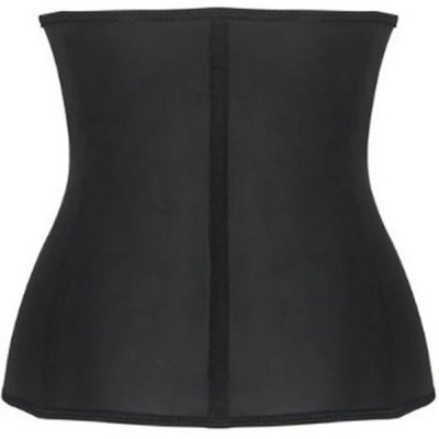 Simple Solid Color Zip Up Women's Waist Training Corset