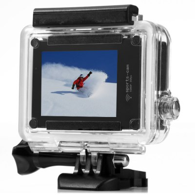 Amkov AMK7000S 4K Ultra HD WiFi Action CameraAction Cameras<br>Amkov AMK7000S 4K Ultra HD WiFi Action Camera<br><br>Brand: Amkov<br>Model: AMK7000S<br>Type: Sports Camera<br>Chipset Name: Sunplus<br>Chipset: Sunplus 6350M<br>Max External Card Supported: TF 32G (not included)<br>Class Rating Requirements: Class 10 or Above<br>Screen size: 2.0inch<br>Screen type: LCD<br>Battery Type: Built-in<br>Charge way: USB charge by PC<br>Working Time: 90 minutes at 1080P 60fps<br>Decode Format: H.264<br>Video format: MOV,MP4<br>Video Resolution: 1080P (1920 x 1080),4K (3840 x 2160),720P (1280 x 720)<br>Video System: NTSC,PAL<br>Video Output : HDMI<br>Image Format : JPG<br>White Balance Mode: Auto<br>Scene: Auto<br>WIFI: Yes<br>WiFi Function: Image Transmission,Remote Control,Settings,Sync and Sharing Albums<br>WiFi Distance : 10m<br>Waterproof: Yes<br>Waterproof Rating : 40m underwater<br>Loop-cycle Recording : Yes<br>HDMI Output: Yes<br>Time Stamp: Yes<br>Interface Type: Micro HDMI,Micro USB,TF Card Slot<br>Language: English,German,Italian,Japanese,Korean,Portuguese,Russian,Simplified Chinese,Spanish<br>Product weight: 0.075 kg<br>Package weight: 0.500 kg<br>Product size (L x W x H): 5.90 x 4.10 x 2.10 cm / 2.32 x 1.61 x 0.83 inches<br>Package size (L x W x H): 18.00 x 16.00 x 7.00 cm / 7.09 x 6.3 x 2.76 inches<br>Package Contents: 1 x AMK7000S Action Camera, 1 x Waterproof Case, 1 x J-Shaped Quick-Release Base Mount, 1 x Long Connector + Long Screw, 1 x Short Connector + Short Screw, 1 x Helmet Mount Strap, 1 x Remote Control W