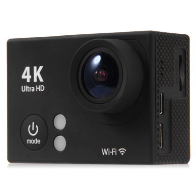 H2 Ultra HD 4K WiFi Action CameraAction Cameras<br>H2 Ultra HD 4K WiFi Action Camera<br><br>Model: H2<br>Type: Sports Camera<br>Chipset Name: Sunplus<br>Chipset: Sunplus SPCA6350<br>Max External Card Supported: TF 32G (not included)<br>Class Rating Requirements: Class 10 or Above<br>Screen size: 2.0inch<br>Screen type: TFT<br>Battery Type: Removable<br>Capacity: 1050mAh<br>Charge way: USB charge by PC<br>Working Time: Up to 90 minutes at 1080P 30fps, 50 minutes at 4K 25fps<br>Wide Angle: 170 degree wide angle<br>Camera Pixel : 12.0 megapixel<br>ISO: Auto<br>Decode Format: H.264<br>Video format: MOV<br>Video Resolution: 1080P (1920 x 1080),2.7K (2704 x 1524),4K (4096 x 2160)<br>Video Output : HDMI<br>Image Format : JPEG<br>Exposure Compensation: +0.3,+0.7,+1,+1.3,+1.7,+2,-0.3,-0.7,-1,-1.3,-1.7,-2,0<br>White Balance Mode: Auto<br>Scene: Auto<br>WIFI: Yes<br>WiFi Function: Image Transmission,Remote Control,Settings,Sync and Sharing Albums<br>WiFi Distance : 10m<br>Waterproof: Yes<br>Waterproof Rating : 30m underwater with waterproof case<br>Loop-cycle Recording : Yes<br>HDMI Output: Yes<br>USB Function: PC-Camera<br>Delay Shutdown : Yes<br>Time Stamp: Yes<br>Interface Type: Micro HDMI,Micro USB,TF Card Slot<br>Language: Dutch,English,French,German,Italian,Japanese,Korean,Polski,Portuguese,Russian,Spanish,Traditional Chinese,Turkish<br>Frequency: 50Hz,60Hz,Auto<br>Product weight: 0.061 kg<br>Package weight: 0.550 kg<br>Product size (L x W x H): 5.90 x 2.90 x 4.10 cm / 2.32 x 1.14 x 1.61 inches<br>Package size (L x W x H): 28.00 x 17.00 x 7.00 cm / 11.02 x 6.69 x 2.76 inches<br>Package Contents: 1 x H2 4K WiFi Action Camera, 1 x Waterproof Case, 1 x Flat Mount Base, 1 x Curved Base, 1 x Backpack Clip, 1 x Tripod Mount Adapter, 1 x 1/4 inch Mount Adapter, 1 x USB Cable (About 0.5m Length), 1 x