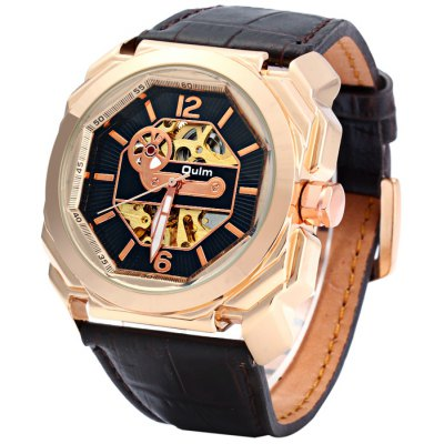Oulm 3218 Men Automatic Mechanical Hollow-out Watch