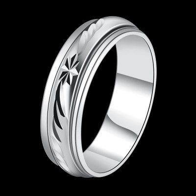 R779-C Nickle Free Antiallergic New Fashion Jewelry Platinum Plated Ring