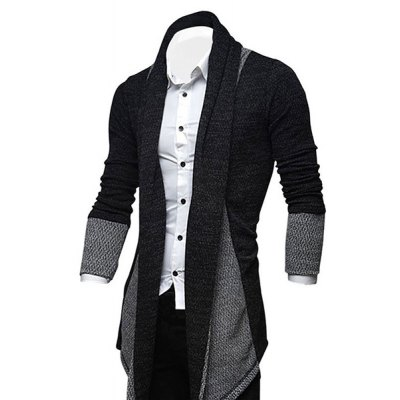 Turndown Collar Color Block Longline CardiganMens Sweaters &amp; Cardigans<br>Turndown Collar Color Block Longline Cardigan<br><br>Collar: Turn-down Collar<br>Material: Cotton, Polyester<br>Package Contents: 1 x Cardigan<br>Sleeve Length: Full<br>Style: Fashion<br>Type: Cardigans<br>Weight: 0.410kg