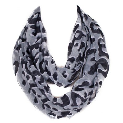 Leopard Pattern Voile Scarf For Kids