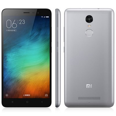 XIAOMI REDMI Note 3 16GB 4G PhabletCell Phones<br>XIAOMI REDMI Note 3 16GB 4G Phablet<br><br>Brand: XiaoMi<br>Type: 4G Phablet<br>OS: Android 5.0<br>Service Provide: Unlocked<br>Languages: Simplified/Traditional Chinese, English, Bahasa Indonesia, Bahasa Melayu, Catalan, Czech, Dansk, German, Eesti, English, Spanish, Filipino, French, Hrvatski, Italian, Latvian, Lithuanian, Magyar, Dutc<br>SIM Card Slot: Dual SIM,Dual Standby<br>SIM Card Type: Dual Micro SIM Card<br>CPU: MTK Helio X10<br>Cores: 2.0GHz,Octa Core<br>GPU: PowerVR G6200<br>RAM: 2GB RAM<br>ROM: 16GB<br>External Memory: Not Supported<br>Wireless Connectivity: 3G,4G,A-GPS,Bluetooth,GPS,GSM,WiFi<br>WIFI: 802.11b/g/n wireless internet<br>Network type: FDD-LTE+WCDMA+GSM<br>3G: WCDMA 850/900/1900/2100MHz<br>2G: GSM 900/1800/1900MHz<br>4G: FDD-LTE 1800/2100/2600MHz<br>Screen type: Capacitive (5-Points)<br>Screen size: 5.5 inch<br>Screen resolution: 1920 x 1080 (FHD)<br>Pixels Per Inch (PPI): 403<br>Camera type: Dual cameras (one front one back)<br>Back camera: 13.0MP<br>Front camera: 5.0MP<br>Video recording: Yes<br>Aperture: f/2.2<br>Auto Focus: Yes<br>Flashlight: Yes<br>Camera Functions: Face Beauty,Face Detection<br>Picture format: BMP,GIF,JPEG,PNG<br>Music format: AAC,AMR,MP3,WAV<br>Video format: ASF,MKV,MP4<br>MS Office format: Excel,PPT,Word<br>E-book format: PDF,TXT<br>I/O Interface: 2 x Micro SIM Card Slot,3.5mm Audio Out Port,Micro USB Slot<br>Sensor: Accelerometer,Ambient Light Sensor,Gravity Sensor,Proximity Sensor,Three-axis Gyro<br>Notification LED: Yes<br>Sound Recorder: Yes<br>Additional Features: 4G,Bluetooth,Browser,Calculator,Calendar,E-book,Fingerprint recognition,GPS,MP3,MP4,People,Sound Recorder,Video Call,Wi-Fi<br>Battery Capacity (mAh): 4000mAh Built-in Battery<br>Battery Type: Lithium-ion Polymer Battery<br>Cell Phone: 1<br>SIM Needle: 1<br>Power Adapter: 1<br>USB Cable: 1<br>Product size: 15.00 x 7.60 x 0.87 cm / 5.91 x 2.99 x 0.34 inches<br>Package size: 16.50 x 10.00 x 5.00 cm / 6.5 x