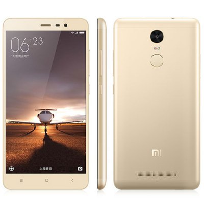 XIAOMI REDMI Note 3 32GB 4G PhabletCell Phones<br>XIAOMI REDMI Note 3 32GB 4G Phablet<br><br>Brand: XiaoMi<br>Type: 4G Phablet<br>OS: MIUI 8<br>Service Provide: Unlocked<br>Language: Simplified/Traditional Chinese, English, Bahasa Indonesia, Bahasa Melayu, Catalan, Czech, Dansk, German, Eesti, English, Spanish, Filipino, French, Hrvatski, Italian, Latvian, Lithuanian, Magyar, Dutc<br>SIM Card Slot: Dual SIM,Dual Standby<br>SIM Card Type: Dual Micro SIM Card<br>CPU: MTK Helio X10<br>Cores: 2.0GHz,Octa Core<br>GPU: PowerVR G6200<br>RAM: 3GB RAM<br>ROM: 32GB<br>External Memory: Not Supported<br>Wireless Connectivity: 3G,4G,A-GPS,Bluetooth,GPS,GSM,WiFi<br>WIFI: 802.11b/g/n wireless internet<br>Network type: FDD-LTE+WCDMA+GSM<br>2G: GSM 900/1800/1900MHz<br>3G: WCDMA 850/900/1900/2100MHz<br>4G: FDD-LTE 1800/2100/2600MHz<br>Screen type: Capacitive (5-Points)<br>Screen size: 5.5 inch<br>Screen resolution: 1920 x 1080 (FHD)<br>Pixels Per Inch (PPI): 403<br>Camera type: Dual cameras (one front one back)<br>Back camera: 13.0MP<br>Front camera: 5.0MP<br>Video recording: Yes<br>Aperture: f/2.2<br>Auto Focus: Yes<br>Flashlight: Yes<br>Camera Functions: Face Beauty,Face Detection<br>Picture format: BMP,GIF,JPEG,PNG<br>Music format: AAC,AMR,MP3,WAV<br>Video format: ASF,MKV,MP4<br>MS Office format: Excel,PPT,Word<br>E-book format: PDF,TXT<br>I/O Interface: 2 x Micro SIM Card Slot,3.5mm Audio Out Port,Micro USB Slot<br>Sensor: Accelerometer,Ambient Light Sensor,Gravity Sensor,Proximity Sensor,Three-axis Gyro<br>Notification LED: Yes<br>Sound Recorder: Yes<br>Additional Features: 4G,Bluetooth,Browser,Calculator,Calendar,E-book,Fingerprint recognition,GPS,MP3,MP4,People,Sound Recorder,Video Call,Wi-Fi<br>Battery Capacity (mAh): 4000mAh Built-in Battery<br>Battery Type: Lithium-ion Polymer Battery<br>Cell Phone: 1<br>Power Adapter: 1<br>USB Cable: 1<br>Product size: 15.00 x 7.60 x 0.87 cm / 5.91 x 2.99 x 0.34 inches<br>Package size: 18.00 x 12.00 x 6.00 cm / 7.09 x 4.72 x 2.36 inches<br>Product weight: 0.164 kg<br>Package weight: 0.500 kg
