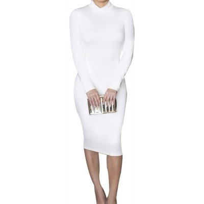 Sexy Club Party Long Sleeve Solid Color Tight Dress