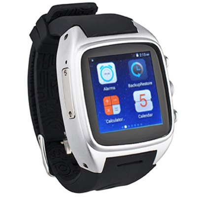 ORDRO SW16 3G Smartwatch PhoneSmart Watch Phone<br>ORDRO SW16 3G Smartwatch Phone<br><br>Type: Watch Phone<br>OS: Android 5.1<br>CPU: MTK6572<br>Cores: 1GHz,Cortex-A7,Dual Core<br>GPU: Mali-400 MP<br>RAM: 512MB<br>ROM: 4GB<br>External Memory: TF card up to 32GB (not included)<br>Wireless Connectivity: 3G,Bluetooth,WiFi<br>WIFI: 802.11b/g/n wireless internet<br>Network type: GSM+WCDMA<br>Frequency: GSM 850/900/1800/1900MHz WCDMA 2100MHz<br>Support 3G : Yes<br>GPS: Yes<br>Bluetooth: Yes<br>Screen type: Capacitive (2-Points)<br>Screen size: 1.54 inch<br>IPS: Yes<br>Screen resolution: 240 x 240<br>Camera type: Single camera<br>Front camera: 3.0MP ( interpolated to 5.0MP )<br>SIM Card Slot: Single SIM<br>TF card slot: Yes<br>Micro USB Slot: Yes<br>Picture format: BMP,GIF,JPEG,PNG<br>Music format: AAC,MP3,WAV<br>Video format: 3GP,MP4<br>Games: Android APK<br>Languages: German, English, Spanish, French, Italian, Magyar, Portuguese, Turkish, Greek, Russian, Hebrew, Arab, Traditional Chinese, Simplified Chinese<br>Additional Features: 3G,Bluetooth,Browser,GPS,MP3,MP4<br>Cell Phone: 1<br>Battery: Built-in 600mAh Battery<br>Charger: 1<br>Screwdriver: 1<br>Screw: 2<br>Product size: 5.56 x 4.65 x 1.38 cm / 2.19 x 1.83 x 0.54 inches<br>Package size: 13.00 x 10.00 x 8.00 cm / 5.12 x 3.94 x 3.15 inches<br>Product weight: 0.112 kg<br>Package weight: 0.330 kg