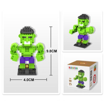 LOZ 290Pcs L - 9451 The Avengers Hulk Building Block Toy for Enhancing Social Cooperation AbilityBlock Toys<br>LOZ 290Pcs L - 9451 The Avengers Hulk Building Block Toy for Enhancing Social Cooperation Ability<br><br>Age: 14 Years+<br>Applicable gender: Unisex<br>Brand: LOZ<br>Character Name: Hulk<br>Design Style: Figure Statue<br>Features: DIY<br>Material: ABS<br>Package Contents: 290 x Module, 1 x User Manual<br>Package size (L x W x H): 8.50 x 8.50 x 8.50 cm / 3.35 x 3.35 x 3.35 inches<br>Package weight: 0.0800 kg<br>Product Model: L - 9451<br>Product prototype: The Avengers<br>Puzzle Style: 3D Puzzle<br>Small Parts : Yes<br>Type: Building Blocks<br>Washing: Yes