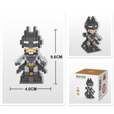 LOZ 250Pcs L - 9457 Superhero Batman Building Block Toy for Enhancing Social Cooperation AbilityBlock Toys<br>LOZ 250Pcs L - 9457 Superhero Batman Building Block Toy for Enhancing Social Cooperation Ability<br><br>Age: 14 Years+<br>Applicable gender: Unisex<br>Brand: LOZ<br>Character Name: Batman<br>Design Style: Figure Statue<br>Features: DIY<br>Material: ABS<br>Package Contents: 250 x Module, 1 x User Manual<br>Package size (L x W x H): 8.50 x 8.50 x 8.50 cm / 3.35 x 3.35 x 3.35 inches<br>Package weight: 0.0700 kg<br>Product Model: L - 9457<br>Product prototype: Superhero<br>Puzzle Style: 3D Puzzle<br>Small Parts : Yes<br>Type: Building Blocks<br>Washing: Yes
