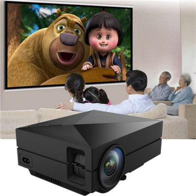 GM60 LCD Projector 1000LM 800 x 480 Pixels Portable 1080P Multimedia PlayerProjectors<br>GM60 LCD Projector 1000LM 800 x 480 Pixels Portable 1080P Multimedia Player<br><br>Brightness: 1000 Lumens<br>Color: Black<br>Contrast Ratio: 1000:1<br>Display type: LCD<br>Image Scale: 16:9,4:3<br>Image Size: 34-130 inch<br>Interface: Earphone, AV<br>Lamp: LED<br>Material: Plastic, Glass<br>Model: GM60<br>Native Resolution: 800 x 480<br>Package Contents: 1 x GM60 LCD Projector 1000LM 800 x 480 Pixels Portable 1080P Multimedia Player, 1 x Power Adapter, 1 x 3-in-1 AV Cable, 1 x English User Manual<br>Package size (L x W x H): 22.00 x 17.00 x 9.00 cm / 8.66 x 6.69 x 3.54 inches<br>Package weight: 1.3030 kg<br>Power Supply: 100-240V<br>Product size (L x W x H): 18.80 x 14.65 x 5.40 cm / 7.4 x 5.77 x 2.13 inches<br>Product weight: 0.9000 kg<br>Resolution Support: 1080P<br>Throw Ration: 1.4:1