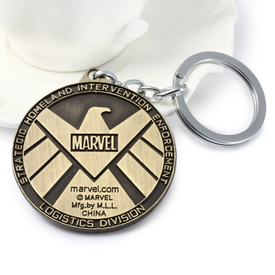 The Avengers-SHIELD Sign Metal Key ChainHome Gadgets<br>The Avengers-SHIELD Sign Metal Key Chain<br><br>Material: Alloy, Metal<br>Package Contents: 1 x Key Chain<br>Package size (L x W x H): 16.50 x 7.90 x 1.20 cm / 6.5 x 3.11 x 0.47 inches<br>Package weight: 0.0790 kg<br>Product size (L x W x H): 5.10 x 5.10 x 0.50 cm / 2.01 x 2.01 x 0.2 inches<br>Product weight: 0.0410 kg<br>Type: Key Chain