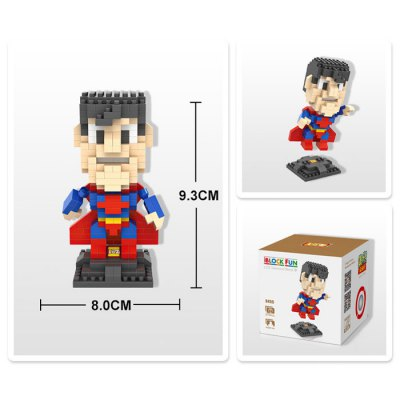LOZ 270Pcs L - 9455 Superhero Super Man Building Block Toy for Enhancing Social Cooperation AbilityBlock Toys<br>LOZ 270Pcs L - 9455 Superhero Super Man Building Block Toy for Enhancing Social Cooperation Ability<br><br>Age: 14 Years+<br>Applicable gender: Unisex<br>Brand: LOZ<br>Character Name: Super Man<br>Design Style: Figure Statue<br>Features: DIY<br>Material: ABS<br>Package Contents: 270 x Module, 1 x User Manual<br>Package size (L x W x H): 8.50 x 8.50 x 8.50 cm / 3.35 x 3.35 x 3.35 inches<br>Package weight: 0.080 kg<br>Product Model: L - 9455<br>Product prototype: Superhero<br>Puzzle Style: 3D Puzzle<br>Small Parts : Yes<br>Type: Building Blocks<br>Washing: Yes