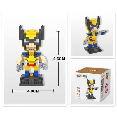 LOZ 240Pcs L - 9459 X-Men Wolverine Building Block Toy for Enhancing Social Cooperation AbilityBlock Toys<br>LOZ 240Pcs L - 9459 X-Men Wolverine Building Block Toy for Enhancing Social Cooperation Ability<br><br>Age: 14 Years+<br>Applicable gender: Unisex<br>Brand: LOZ<br>Character Name: Wolverine<br>Design Style: Figure Statue<br>Features: DIY<br>Material: ABS<br>Package Contents: 240 x Module, 1 x User Manual<br>Package size (L x W x H): 8.50 x 8.50 x 8.50 cm / 3.35 x 3.35 x 3.35 inches<br>Package weight: 0.0700 kg<br>Product Model: L - 9459<br>Product prototype: X-Men<br>Puzzle Style: 3D Puzzle<br>Small Parts : Yes<br>Type: Building Blocks<br>Washing: Yes
