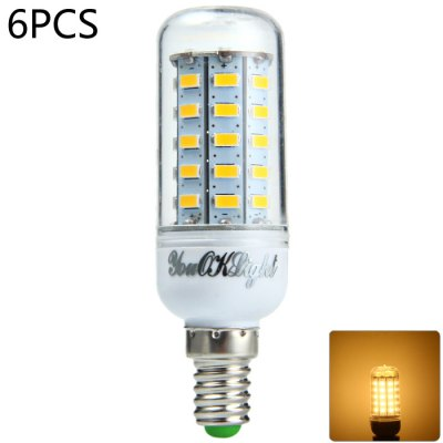 6pcs YouOKLight E14 SMD 5730 1000Lm 12W LED Corn Bulb Light