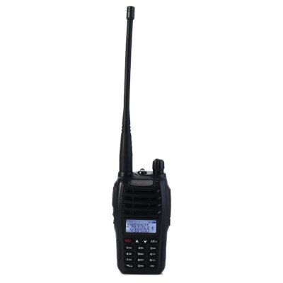 BAOFENG UV-B6 UHF / VHF Walkie TalkieWalkie Talkies<br>BAOFENG UV-B6 UHF / VHF Walkie Talkie<br><br>Adjacent Channel Power: 65dB (W), 55dB (N)<br>Adjacent Channel Selectivity (wide/narrow): More than 65dB (W), More than 55dB (N)<br>Antenna Impedance : 50ohm<br>Audio Distortion: 5 percent<br>Audio Power: 1W<br>Brand: Baofeng<br>Channels: 90 to 119 Channel<br>CTCSS/CTTCS Frequency Deviation (broadband/narrowband): 0.7 +/- 0.1KHz (W), 0.4 +/- 0.1KHz (N)<br>Feature: Long-lasting Battery Life<br>Frequency Bands: VHF,UHF<br>Frequency Stability : +/- 2.5 PPM<br>Intermodulation (broadband/narrowband): More than 55dB (N), More than 65dB (W)<br>Main Functions : Busy Channel Lockout (BCL), CTCSS/DCS, PC Programmable, VOX, Time-Out Timer (TOT)<br>Maximum Frequency Deviation (broadband/narrowband): Less than 5KHz (W), Less than 2.5KHz (N)<br>Model Number: UV - B6<br>Modulation Sensitivity: 8 - 12mV<br>Modulation Type: FM (F3E)<br>Output Power (high/low): 5W / 2W<br>Package Contents: 1 x BAOFENG UV-B6 Walkie Talkie, 1 x Antenna, 1 x 7.4V 2000mAh Lithium Battery Pack, 1 x Lithium Battery Charger, 1 x Power Adapter, 1 x Belt Clip, 1 x Lanyard, 1 x English User Manual<br>Package Dimension: 18.50 x 12.50 x 11.00 cm / 7.28 x 4.92 x 4.33 inches<br>Package weight: 0.490 kg<br>Product Dimension: 11.50 x 5.80 x 3.60 cm / 4.53 x 2.28 x 1.42 inches<br>Product weight: 0.116 kg<br>Receiveing Sensitivity (broadband/narrowband): Less than 0.20 micro voltage (12dB SINAD)<br>Special function: Reverse Frequency, FM Radio,  Reporting Number Command,  DTMF,  Battery Save,  Low Power Alarm,  Dual Display,  Dual Frequency,  Scan,  PTT-ID,  Dual Band,  W / N,  1750HZ Relay Forwarding Confirmed,  ANI-ID