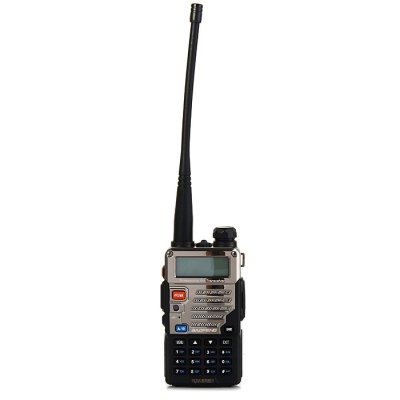 BAOFENG UV-5RE UHF / VHF Walkie TalkieWalkie Talkies<br>BAOFENG UV-5RE UHF / VHF Walkie Talkie<br><br>Adjacent Channel Power: 65dB (W), 55dB (N)<br>Adjacent Channel Selectivity (wide/narrow): More than 65dB (W), More than 55dB (N)<br>Antenna Impedance : 50ohm<br>Audio Distortion: 5 percent<br>Audio Power: 1W<br>Brand: Baofeng<br>Channels: 120 to 499 Channel<br>CTCSS/CTTCS Frequency Deviation (broadband/narrowband): 0.7 +/- 0.1KHz (W), 0.4 +/- 0.1KHz (N)<br>Feature: Long-lasting Battery Life<br>Frequency Bands: VHF,UHF<br>Frequency Stability : +/- 2.5 PPM<br>Intermodulation (broadband/narrowband): More than 65dB (W),  More than 55dB (N)<br>Main Functions : CTCSS/DCS, PC Programmable, Time-Out Timer (TOT), Busy Channel Lockout (BCL)<br>Maximum Frequency Deviation (broadband/narrowband): Less than 5KHz(W), Less than 2.5KHz(N)<br>Model Number: UV - 5RE<br>Modulation Sensitivity: 8 - 12mV<br>Modulation Type: FM (F3E)<br>Output Power (high/low): 5W/1 W (VHF), 4W/1W(UHF)<br>Package Contents: 1 x BAOFENG UV-5RE Walkie Talkie, 1 x Antenna, 1 x 7.4V 1800mAh Lithium Battery Pack, 1 x Lithium Battery Charger, 1 x Power Adapter, 1 x Belt Clip, 1 x Lanyard, 1 x English User Manual, 1 x Headphone<br>Package Dimension: 18.5 x 12.5 x 11.0 cm / 7.27 x 4.91 x 4.32 inches<br>Package weight: 0.490 kg<br>Product Dimension: 11.0 x 5.8 x 3.2 cm / 4.32 x 2.28 x 1.26 inches<br>Product weight: 0.111 kg<br>Receiveing Sensitivity (broadband/narrowband): Less than 0.20 micro voltage (12dB SINAD)<br>Special function: Dual Frequency, Step Frequency Setting,  High / Lower Power Change,  W / N,  Dual Frequency,  Reporting Number Command,  Priority Channel Scan,  Low Power Alarm,  DTMF,  Dual Watch,  Dual Display,  Dual Band,  PTT-ID,  ANI Code,  Emergency Alarm