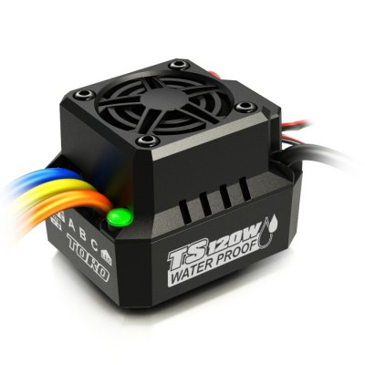 SKYRC TS120W IP67 Waterproof Brushless ESC for RC CarESC<br>SKYRC TS120W IP67 Waterproof Brushless ESC for RC Car<br><br>Brand: SKYRC<br>Package Contents: 1 x ESC<br>Package size (L x W x H): 20.00 x 10.00 x 6.00 cm / 7.87 x 3.94 x 2.36 inches<br>Package weight: 0.4460 kg<br>Product size (L x W x H): 3.90 x 3.80 x 2.00 cm / 1.54 x 1.5 x 0.79 inches<br>Product weight: 0.0450 kg<br>Type: ESC