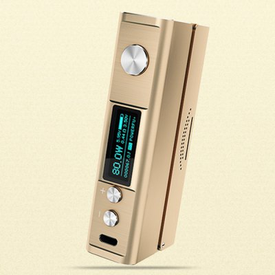 Original Elephone ELE Star 80W TC Box ModTemperature Control Mods<br>Original Elephone ELE Star 80W TC Box Mod<br><br>510 Connector Type: Spring Loaded<br>Accessories type: MOD<br>APV Mod Wattage: 80W<br>APV Mod Wattage Range: 51-100W<br>Atomizer Connector Diameter: 23mm<br>Available Color: Black,Gold<br>Battery Cover Type: Magnetic<br>Battery Form Factor: 18650<br>Battery Quantity: 1 piece<br>Brand: Elephone ELE<br>Charge way: USB<br>Material: Aluminum Alloy<br>Mod: Temperature Control Mod,VV/VW Mod<br>Package Contents: 1 x Elephone ELE Star 80W TC Box Mod, 1 x English User Manual<br>Package size (L x W x H): 12.80 x 8.40 x 2.50 cm / 5.04 x 3.31 x 0.98 inches<br>Package weight: 0.250 kg<br>Product size (L x W x H): 9.20 x 4.50 x 2.30 cm / 3.62 x 1.77 x 0.91 inches<br>Product weight: 0.102 kg<br>Temperature Control Range: 200 - 580F, 100 - 300C<br>Type: Electronic Cigarettes Accessories
