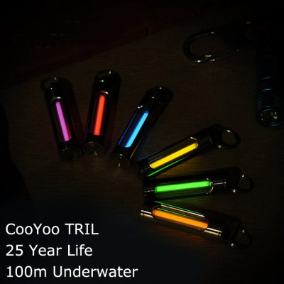 CooYoo TRIL Titanium Tritium KeychainLED Accessories<br>CooYoo TRIL Titanium Tritium Keychain<br><br>Accessory type: Tritium Vial<br>Brand: CooYoo<br>Color: Pink,Red,Blue,Green,Purple,Orange,Yellow<br>Model: TRIL<br>Package Contents: 1 x CooYoo TRIL Tritium Keychain, 1 x Keyring, 1 x Beads Chain<br>Package size (L x W x H): 5 x 2 x 2 cm / 1.97 x 0.79 x 0.79 inches<br>Package weight: 0.06 kg<br>Product size (L x W x H): 4 x 1 x 1 cm / 1.57 x 0.39 x 0.39 inches<br>Product weight: 0.005 kg