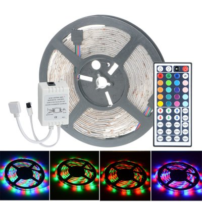 HML 60 SMD 2835 / M 5M 24W RGB Strip Light + 44 Keys ControllerLED Strips<br>HML 60 SMD 2835 / M 5M 24W RGB Strip Light + 44 Keys Controller<br><br>Actual Lumens: 2400Lm<br>Brand: HML<br>Chip Brand: Epistar<br>Connector Type: 4PIN<br>Features: IP-65, Cuttable, Remote Control, Low Power Consumption, Waterproof<br>Input Voltage: DC12<br>LED Type: SMD-2835<br>Length: 5<br>Material: Silicone, FPC<br>Number of LEDs: 60 x SMD 2835 / M<br>Optional Light Color: RGB<br>Package Contents: 1 x HML LED Strip Light, 1 x 44 Keys Remote Controller, 1 x Control Box<br>Package size (L x W x H): 16 x 16 x 2.5 cm / 6.29 x 6.29 x 0.98 inches<br>Package weight: 0.155 kg<br>Product size (L x W x H): 15 x 15 x 1.3 cm / 5.90 x 5.90 x 0.51 inches<br>Product weight: 0.100 kg<br>Type: LED Strip