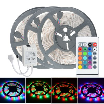 3pcs HML 5M 300 SMD 2835 RGB LED Strip Light + 24 Keys ControllerLED Strips<br>3pcs HML 5M 300 SMD 2835 RGB LED Strip Light + 24 Keys Controller<br><br>Actual Lumens: 2400Lm<br>Brand: HML<br>Chip Brand: Epistar<br>Connector Type: 4PIN<br>Features: Remote Control, Low Power Consumption, Waterproof, Cuttable, IP-65<br>Input Voltage: DC12<br>LED Type: SMD-2835<br>Length: 5<br>Material: Silicone, FPC<br>Number of LEDs: 60 x SMD 2835 / M<br>Optional Light Color: RGB<br>Package Contents: 3 x HML LED Strip Light, 1 x 24 Keys Remote Controller, 1 x Control Box<br>Package size (L x W x H): 16 x 16 x 7.5 cm / 6.29 x 6.29 x 2.95 inches<br>Package weight: 0.340 kg<br>Product size (L x W x H): 15 x 15 x 1.3 cm / 5.90 x 5.90 x 0.51 inches<br>Product weight: 0.170 kg<br>SMD: 2835<br>Type: LED Strip