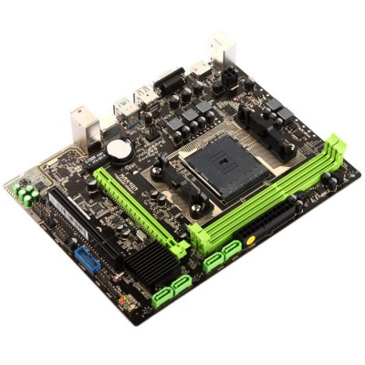 Teclast MAXSUN MS-A86FX Micro-ATX MotherboardMotherboards<br>Teclast MAXSUN MS-A86FX Micro-ATX Motherboard<br><br>Brand: Maxsun<br>Chip-set Manufacturer: AMD<br>Chipset: AMD Bolton<br>DVI: Yes<br>HDMI: Yes<br>Interface: HDMI, PCI Express, USB3.0, VGA, PCI, USB2.0<br>Memory Type: DDR3<br>Model: MS-A86FX<br>Package Contents: 1 x MAXSUN MS-A86FX Micro-ATX Motherboard, 1 x SATA Cable, 1 x Damper, 1 x Chinese Manual<br>Package size: 23.500 x 26.000 x 6.500 cm / 9.252 x 10.236 x 2.559 inches<br>Package weight: 0.820 kg<br>PCI express 2.0 x16: 1<br>PCI Slot: 1<br>Power Supply Type: 3+2<br>Product size: 22.500 x 25.000 x 5.500 cm / 8.858 x 9.843 x 2.165 inches<br>Product weight: 0.700 kg<br>SATA 3Gb/s: 4<br>Type: Motherboards<br>VGA: Yes