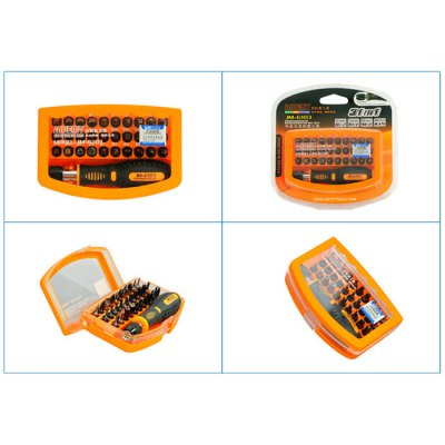 JAKEMY JM-6103 31 in 1 Screwdriver Set Repair ToolScrewdriver &amp; Screwdriver Set<br>JAKEMY JM-6103 31 in 1 Screwdriver Set Repair Tool<br><br>Brand: JAKEMY<br>Certificate: CE<br>Model: JM-6103<br>Optional Color: Black<br>Package Contents: 30 x Screwdriver Bit, 1 x Non-slip Handle<br>Package size (L x W x H): 30.00 x 16.00 x 12.00 cm / 11.81 x 6.3 x 4.72 inches<br>Package weight: 0.750 kg<br>Product size (L x W x H): 29.00 x 15.00 x 11.00 cm / 11.42 x 5.91 x 4.33 inches<br>Product weight: 0.650 kg<br>Screw Head Type: Slotted, Torx, Hex, Cross, Special<br>Special function: Disassembled Tool<br>Steel Material  : Chrome Vanadium Steel