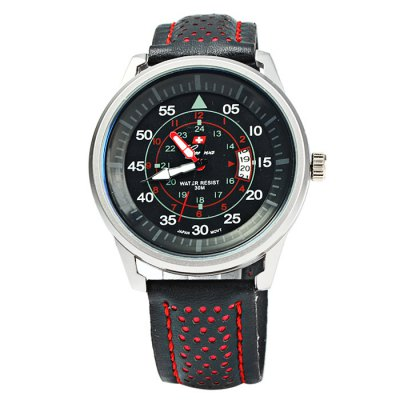 Geneva 9044 Date Display Men Quartz Watch with Leather BandMens Watches<br>Geneva 9044 Date Display Men Quartz Watch with Leather Band<br><br>Available Color: Red,Yellow<br>Band material: Leather<br>Brand: Geneva<br>Case material: Stainless Steel<br>Clasp type: Pin buckle<br>Display type: Analog<br>Movement type: Quartz watch<br>Package Contents: 1 x Geneva 9044 Watch<br>Package size (L x W x H): 26.5 x 5.5 x 2 cm / 10.41 x 2.16 x 0.79 inches<br>Package weight: 0.105 kg<br>Product size (L x W x H): 25.5 x 4.5 x 1 cm / 10.02 x 1.77 x 0.39 inches<br>Product weight: 0.055 kg<br>Shape of the dial: Round<br>Special features: Date<br>The band width: 2.0 cm / 0.79 inches<br>The dial diameter: 4.5 cm / 1.77 inches<br>The dial thickness: 1.0 cm / 0.39 inches<br>Watch style: Fashion<br>Watches categories: Male table<br>Water resistance : 30 meters<br>Wearable length: 17.5 - 22 cm / 6.89 - 8.66 inches