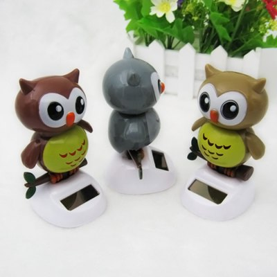 Solar Shaking Owl Environment-friendly OrnamentationSolar Powered Toys<br>Solar Shaking Owl Environment-friendly Ornamentation<br><br>Age: Above 3 Years<br>Material: ABS<br>Package Contents: 1 x Solar Shaking Owl<br>Package size (L x W x H): 14.00 x 11.00 x 6.00 cm / 5.51 x 4.33 x 2.36 inches<br>Package weight: 0.107 kg<br>Product size (L x W x H): 6.00 x 5.00 x 11.00 cm / 2.36 x 1.97 x 4.33 inches<br>Product weight: 0.040 kg<br>Type: Solar Toy