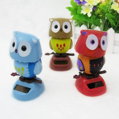 Solar Shaking Owl Environment-friendly OrnamentationSolar Powered Toys<br>Solar Shaking Owl Environment-friendly Ornamentation<br><br>Age: Above 3 Years<br>Material: ABS<br>Package Contents: 1 x Solar Shaking Owl<br>Package size (L x W x H): 14.00 x 11.00 x 6.00 cm / 5.51 x 4.33 x 2.36 inches<br>Package weight: 0.060 kg<br>Product size (L x W x H): 6.00 x 5.00 x 11.00 cm / 2.36 x 1.97 x 4.33 inches<br>Product weight: 0.043 kg<br>Type: Solar Toy