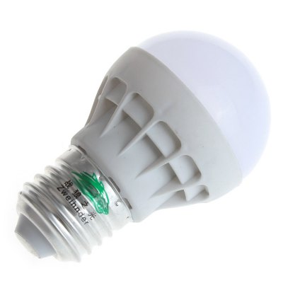 2PCS Zweihnder E27 3W 300Lm SMD 5630 LED Light BulbGlobe bulbs<br>2PCS Zweihnder E27 3W 300Lm SMD 5630 LED Light Bulb<br><br>Angle: 170 degree<br>Available Light Color: White,Warm White<br>Brand: Zweihnder<br>CCT/Wavelength: 3000-3500K,5500-6000K<br>Emitter Types: SMD 5630<br>Features: Long Life Expectancy, Energy Saving<br>Function: Studio and Exhibition Lighting, Commercial Lighting, Home Lighting<br>Holder: E27<br>Luminous Flux: 300Lm<br>Output Power: 3W<br>Package Contents: 2 x Zweihnder LED Light Bulb<br>Package size (L x W x H): 9.7 x 5.8 x 10 cm / 3.81 x 2.28 x 3.93 inches<br>Package weight: 0.070 kg<br>Product size (L x W x H): 8.1 x 4.8 x 4.8 cm / 3.18 x 1.89 x 1.89 inches<br>Product weight: 0.021 kg<br>Sheathing Material: Plastic<br>Total Emitters: 5<br>Type: Ball Bulbs<br>Voltage (V): AC 170-240