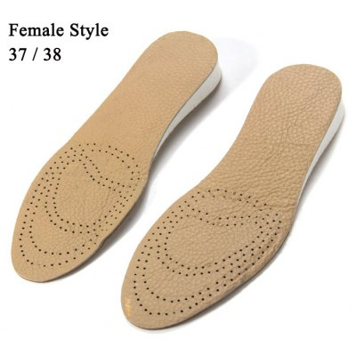 Cowhide Leather Elevator Shoes Insole
