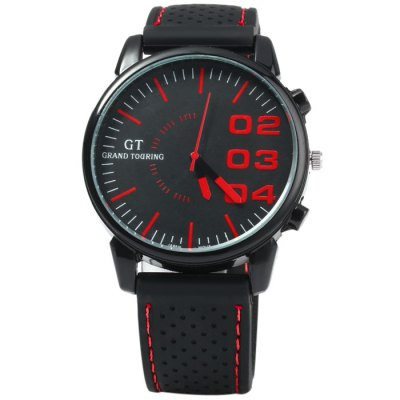 GT Japan Quartz Watch with Rubber Strap for MenMens Watches<br>GT Japan Quartz Watch with Rubber Strap for Men<br><br>Available Color: Black,White,Red,Blue,Green,Orange,Yellow<br>Band material: Rubber<br>Brand: GT<br>Case material: Stainless Steel<br>Clasp type: Pin buckle<br>Display type: Analog<br>Movement type: Quartz watch<br>Package Contents: 1 x GT Watch<br>Package size (L x W x H): 26 x 5.3 x 2 cm / 10.22 x 2.08 x 0.79 inches<br>Package weight: 0.106 kg<br>Product size (L x W x H): 25 x 4.3 x 1 cm / 9.83 x 1.69 x 0.39 inches<br>Product weight: 0.056 kg<br>Shape of the dial: Round<br>Special features: Decorating small sub-dials<br>The band width: 2.0 cm / 0.79 inches<br>The dial diameter: 4.3 cm / 1.69 inches<br>The dial thickness: 1.0 cm / 0.39 inches<br>Watch style: Trends in outdoor sports<br>Watches categories: Male table<br>Wearable length: 17.5 - 22 cm / 6.89 - 8.66 inches