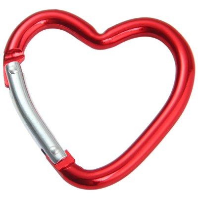 Heart-shaped Aluminum Alloy CarabinerCarabiner<br>Heart-shaped Aluminum Alloy Carabiner<br><br>Best Use: Climbing,Hiking,Mountaineering,Backpacking<br>Material: Aluminum Alloy<br>Package Contents: 2 x Heart-shaped Aluminum Alloy Carabiner<br>Package Dimension: 8.2 x 8.5 x 2.6 cm / 3.22 x 3.34 x 1.02 inches<br>Package weight: 0.054 kg<br>Product Dimension: 6.5 x 6.5 x 0.7 cm / 2.55 x 2.55 x 0.28 inches<br>Product weight: 0.016 kg<br>Tensile Load: 5kg