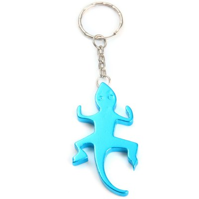 Gecko-shaped Aluminum Alloy Bottle Opener + Keyring DesignEDC Tools<br>Gecko-shaped Aluminum Alloy Bottle Opener + Keyring Design<br><br>Material: Aluminum Alloy, Stainless Steel<br>Package Contents: 5 x Gecko-shaped Bottle Opener<br>Package weight: 0.085 kg<br>Product weight: 0.012 kg<br>Type: Other Camping Gear