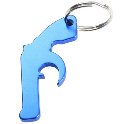 Gun-shaped Aluminum Alloy Bottle Opener with KeyringEDC Tools<br>Gun-shaped Aluminum Alloy Bottle Opener with Keyring<br><br>Material: Aluminum Alloy, Stainless Steel<br>Package Contents: 5 x Gun-shaped Bottle Opener<br>Package weight: 0.082 kg<br>Product weight: 0.010 kg<br>Type: Other Camping Gear