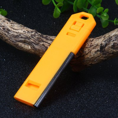 ABS Flat Whistle with Flint Fire StarterWhistle<br>ABS Flat Whistle with Flint Fire Starter<br><br>Best Use: Adventures,Cycling Travel,Camping,Hiking,Backpacking<br>Package Content: 10 x Multi-purpose Flat Whistle<br>Package Dimension: 13.5 x 9 x 6 cm / 5.31 x 3.54 x 2.36 inches<br>Package weight: 0.120 kg<br>Product Dimension: 8.0 x 2.2 x 0.6 cm / 3.14 x 0.86 x 0.24 inches<br>Product weight: 0.009 kg<br>Rod Diameter: 0.4cm<br>Rod Length: 4.5cm<br>Scraper Type: Fine