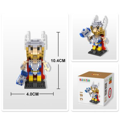 LOZ 350Pcs The Avengers L - 9448 Thor Building Block Toy for Improving Social Cooperation AbilityBlock Toys<br>LOZ 350Pcs The Avengers L - 9448 Thor Building Block Toy for Improving Social Cooperation Ability<br><br>Age: 14 Years+<br>Applicable gender: Unisex<br>Brand: LOZ<br>Design Style: Figure Statue<br>Features: DIY<br>Material: ABS<br>Package Contents: 350 x Module, 1 x User Manual<br>Package size (L x W x H): 8.50 x 8.50 x 8.50 cm / 3.35 x 3.35 x 3.35 inches<br>Package weight: 0.0800 kg<br>Product Model: L - 9448<br>Puzzle Style: 3D Puzzle<br>Small Parts : Yes<br>Type: Building Blocks<br>Washing: Yes