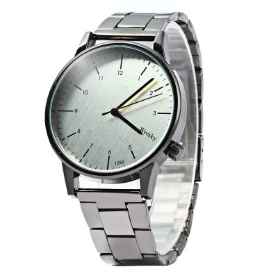 Weesky 1282G Stainless Steel Band Men Quartz Watch
