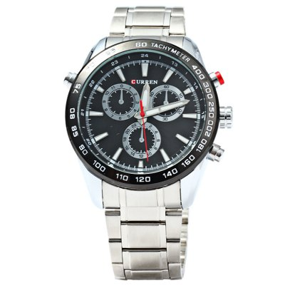 Curren 8189 Business Style Male Quartz WatchMens Watches<br>Curren 8189 Business Style Male Quartz Watch<br><br>Available Color: Black,White,Blue,Gold<br>Band material: Stainless Steel<br>Brand: Curren<br>Case material: Stainless Steel<br>Clasp type: Folding clasp with safety<br>Display type: Analog<br>Movement type: Quartz watch<br>Package Contents: 1 x Curren 8189 Watch<br>Package size (L x W x H): 21 x 5.3 x 2.2 cm / 8.25 x 2.08 x 0.86 inches<br>Package weight: 0.174 kg<br>Product size (L x W x H): 20 x 4.3 x 1.2 cm / 7.86 x 1.69 x 0.47 inches<br>Product weight: 0.124 kg<br>Shape of the dial: Round<br>Special features: Decorating small sub-dials<br>The band width: 2.0 cm / 0.8 inches<br>The dial diameter: 4.3 cm / 1.69 inches<br>The dial thickness: 1.2 cm / 0.47 inches<br>Watch style: Business<br>Watches categories: Male table