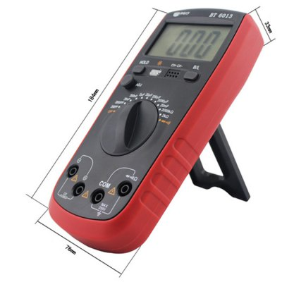 BEST BT 6013 LCD Digital Capacitance MeterMultimeters &amp; Fitting<br>BEST BT 6013 LCD Digital Capacitance Meter<br><br>Brand: BEST<br>Model: BT 6013<br>Package Contents: 1 x BEST BT 6013 LCD Digital Capacitance Meter, 2 x Test Lead, 1 x 9V Battery, 1 x Chinese Manual<br>Package size (L x W x H): 21.50 x 15.50 x 5.50 cm / 8.46 x 6.1 x 2.17 inches<br>Package weight: 0.465 kg<br>Product size (L x W x H): 18.40 x 7.80 x 3.30 cm / 7.24 x 3.07 x 1.3 inches<br>Product weight: 0.352 kg<br>Type: Capacitance Tester