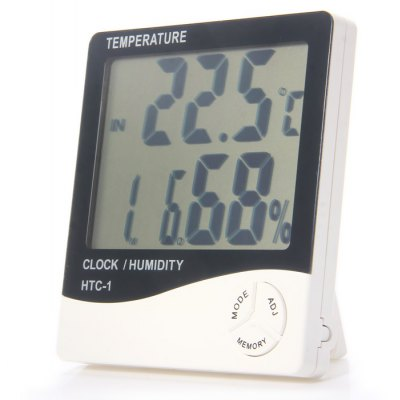 HTC-1 5 in 1 Digital Temperature Humidity Meter / Calendar / Clock / Alarm