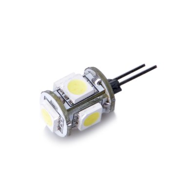 10PCS G4 1.5W 80Lm 5 x SMD 5050 LED Corn LightLED Bi-pin Lights<br>10PCS G4 1.5W 80Lm 5 x SMD 5050 LED Corn Light<br><br>Angle: 360 degree<br>Available Light Color: White,Warm White<br>CCT/Wavelength: 3000K,6000K<br>Emitter Types: SMD 5050<br>Features: Long Life Expectancy, Energy Saving<br>Function: Commercial Lighting, Studio and Exhibition Lighting, Home Lighting<br>Holder: G4<br>Luminous Flux: 80Lm<br>Output Power: 1.5W<br>Package Contents: 10 x G4 LED Corn Light<br>Package size (L x W x H): 8.00 x 6.00 x 2.00 cm / 3.15 x 2.36 x 0.79 inches<br>Package weight: 0.0400 kg<br>Product size (L x W x H): 2.60 x 1.00 x 1.00 cm / 1.02 x 0.39 x 0.39 inches<br>Product weight: 0.0020 kg<br>Total Emitters: 5<br>Type: Corn Bulbs<br>Voltage (V): DC 12