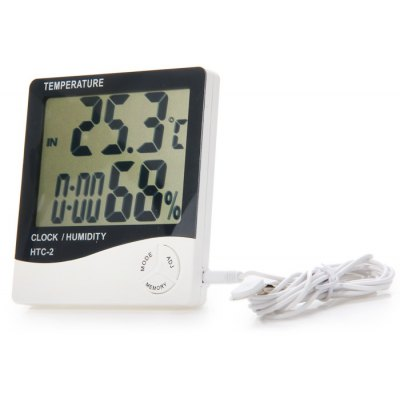 HTC-2 5 in 1 Digital Temperature Humidity Meter / Calendar / Clock / Alarm