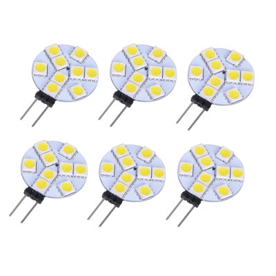 6pcs G4 SMD 5050 2W 110Lm Flat LED Corn Light