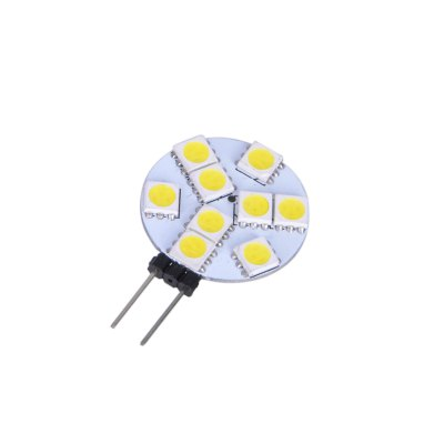 6pcs G4 SMD 5050 2W 110Lm Flat LED Corn LightLED Bi-pin Lights<br>6pcs G4 SMD 5050 2W 110Lm Flat LED Corn Light<br><br>Angle: 120 degree<br>Available Light Color: White,Warm White<br>CCT/Wavelength: 3000K,6000K<br>Emitter Types: SMD 5050<br>Features: Long Life Expectancy, Energy Saving<br>Function: Commercial Lighting, Studio and Exhibition Lighting, Home Lighting<br>Holder: G4<br>Luminous Flux: 110Lm<br>Output Power: 2W<br>Package Contents: 6 x G4 LED Corn Light<br>Package size (L x W x H): 8 x 6 x 2 cm / 3.14 x 2.36 x 0.79 inches<br>Package weight: 0.045 kg<br>Product size (L x W x H): 3.7 x 1 x 1 cm / 1.45 x 0.39 x 0.39 inches<br>Product weight: 0.004 kg<br>Total Emitters: 9<br>Type: Corn Bulbs<br>Voltage (V): DC 12