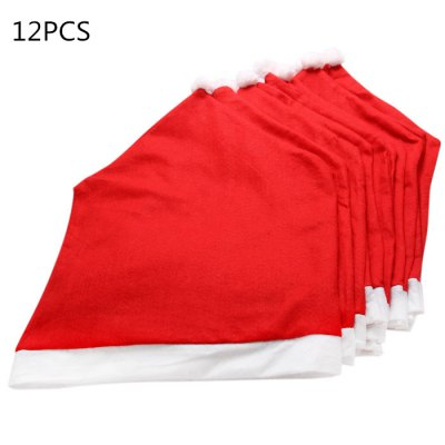 12PCS Christmas Santa Claus Hat Chair Back CoverChristmas Supplies<br>12PCS Christmas Santa Claus Hat Chair Back Cover<br><br>Color: Red<br>For: All<br>Material: Flannel<br>Package Contents: 12 x Santa Claus Red Hat Style Chair Back Cover<br>Package size (L x W x H): 69.00 x 40.00 x 16.00 cm / 27.17 x 15.75 x 6.3 inches<br>Package weight: 0.890 kg<br>Product size (L x W x H): 63.00 x 48.00 x 14.00 cm / 24.8 x 18.9 x 5.51 inches<br>Product weight: 0.732 kg<br>Usage: New Year, Party, Christmas