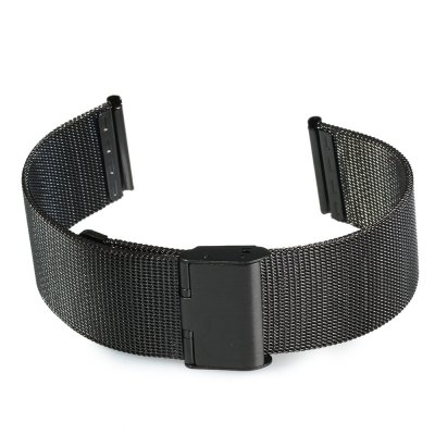 22mm Stainless Steel Mesh Watch Strap Folding Clasp with SafetySmart Watch Accessories<br>22mm Stainless Steel Mesh Watch Strap Folding Clasp with Safety<br><br>Color: Black,Gold,Silver<br>Material: Stainless Steel<br>Package Contents: 1 x 22mm Stainless Steel Mesh Watch Strap<br>Package size (L x W x H): 18.30 x 3.20 x 1.60 cm / 7.2 x 1.26 x 0.63 inches<br>Package weight: 0.0560 kg<br>Product size (L x W x H): 17.30 x 2.20 x 0.60 cm / 6.81 x 0.87 x 0.24 inches<br>Product weight: 0.0340 kg<br>Type: Normal watch band