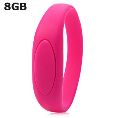 8GB USB 2.0 Flash Drive Bracelet StyleUSB Flash Drives<br>8GB USB 2.0 Flash Drive Bracelet Style<br><br>Available Color: Black,White,Green,Purple,Rose<br>Capacity: 8G<br>Features: Novelty<br>Interface: USB 2.0<br>Package Contents: 1 x 8GB USB 2.0 Flash Drive Silicone Bracelet Style<br>Package size (L x W x H): 26.5 x 4.3 x 2.1 cm / 10.41 x 1.69 x 0.83 inches<br>Package weight: 0.068 kg<br>Product size (L x W x H): 24.5 x 2.3 x 1.1 cm / 9.63 x 0.90 x 0.43 inches<br>Product weight: 0.026 kg<br>Style: Stylish<br>Type: USB Stick