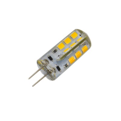 10PCS G4 2.5W 180Lm SMD 2835 LED Corn BulbLED Bi-pin Lights<br>10PCS G4 2.5W 180Lm SMD 2835 LED Corn Bulb<br><br>Angle: 360 degree<br>Available Light Color: White,Warm White<br>CCT/Wavelength: 3000K,6000K<br>Emitter Types: SMD 2835<br>Features: Long Life Expectancy, Energy Saving<br>Function: Commercial Lighting, Studio and Exhibition Lighting, Home Lighting<br>Holder: G4<br>Luminous Flux: 180Lm<br>Output Power: 2.5W<br>Package Contents: 10 x G4 LED Corn Bulb<br>Package size (L x W x H): 12 x 9 x 3.2 cm / 4.72 x 3.54 x 1.26 inches<br>Package weight: 0.100 kg<br>Product size (L x W x H): 3.8 x 1.2 x 1.2 cm / 1.49 x 0.47 x 0.47 inches<br>Product weight: 0.006 kg<br>Sheathing Material: Silicone<br>Total Emitters: 24<br>Type: Corn Bulbs<br>Voltage (V): DC 12